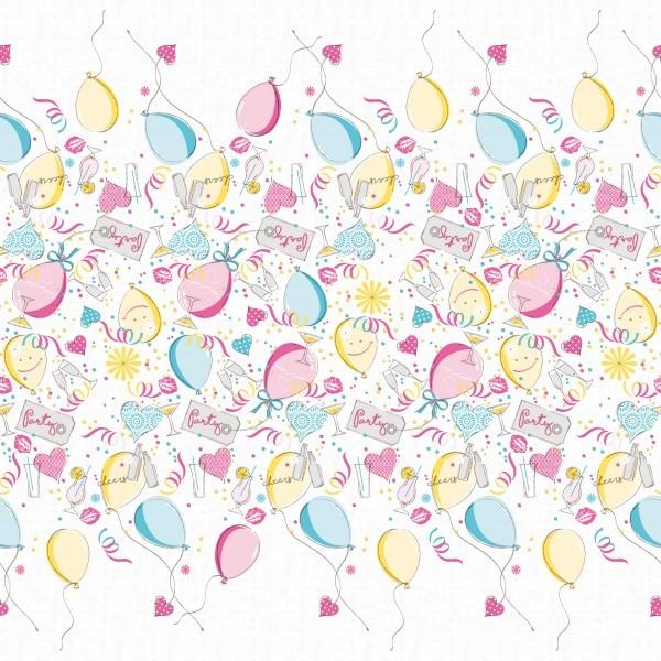 Tischdecke Ballons aus Linclass® Airlaid 80 x 80 cm, 20 Stück