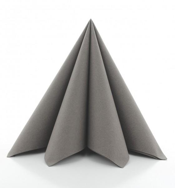 Serviette in Beige-Grey aus Linclass® Airlaid 40 x 40 cm, 50 Stück