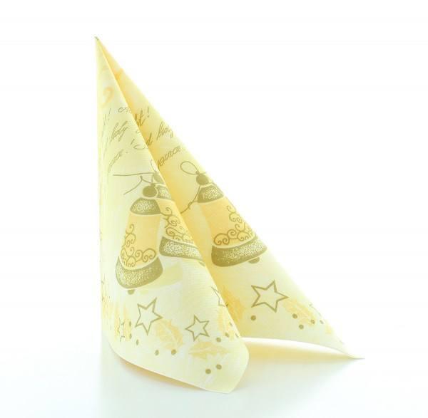 Serviette Harmony in Creme aus Linclass® Airlaid 40 x 40 cm, 50 Stück