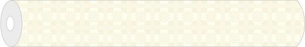Papier-Tischdeckenrolle Damast in Creme aus Papier 120 cm x 25 m, 1 Stück