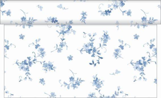 Tischläufer Bonnie in Blau aus Linclass® Airlaid 40 cm x 4,80 m, 1 Stück