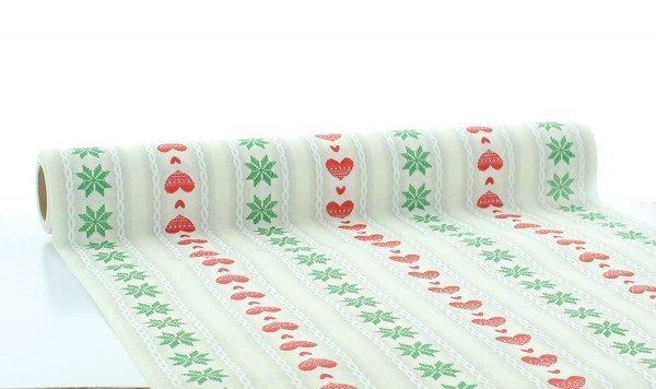 Tischläufer Trixi in Rot-Grün aus Linclass® Airlaid 40 cm x 4,80 m, 1 Stück