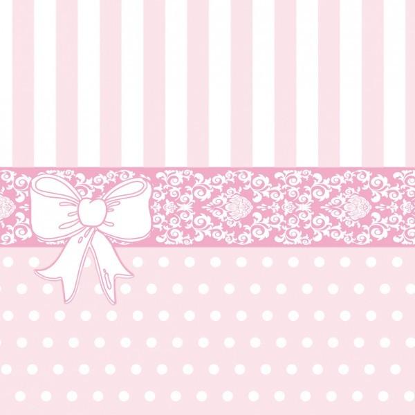 Serviette Bine in Rosa aus Linclass® Airlaid 40 x 40 cm, 12 Stück