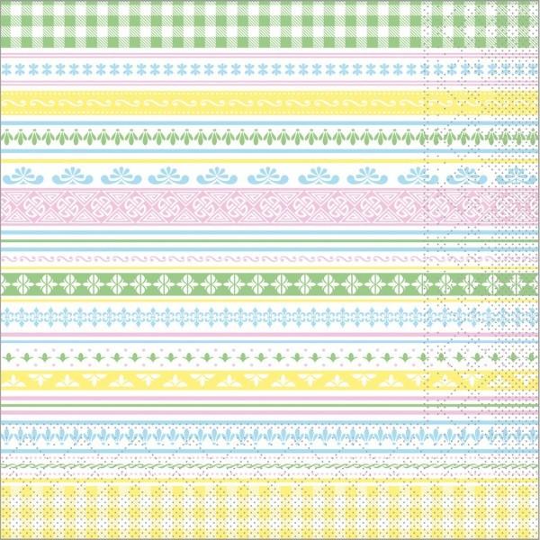 Serviette Babette in pastell aus Tissue 40 x 40 cm, 100 Stück