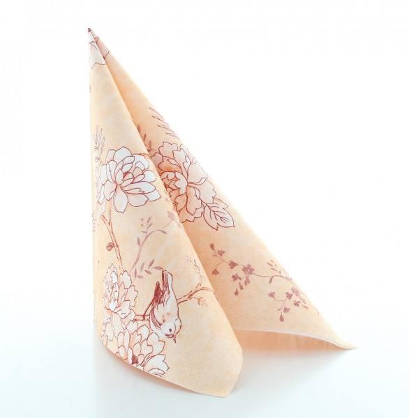 Serviette Maylin in aprikot aus Linclass® Airlaid 40 x 40 cm, 50 Stück