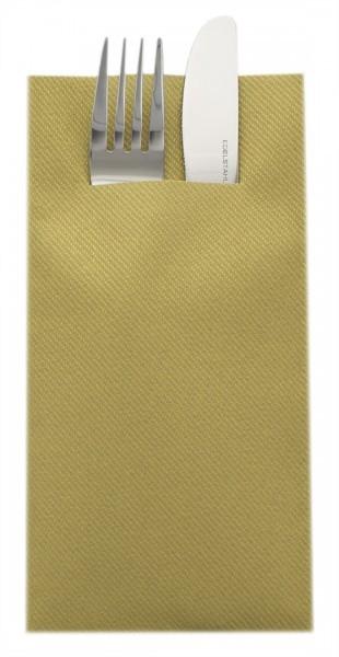 Besteckserviette Gold aus Linclass® Airlaid 40 x 40 cm, 100 Stück