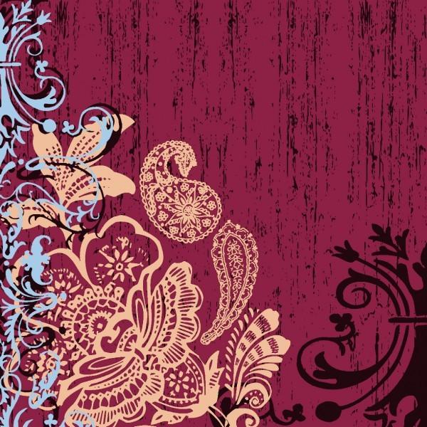 Serviette Ellen in Bordeaux aus Linclass® Airlaid 40 x 40 cm, 12 Stück