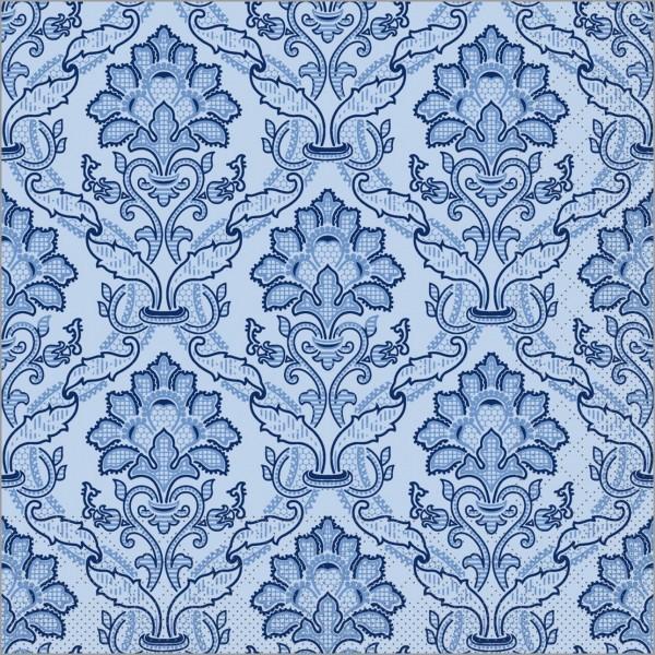 Serviette Cleve in blau aus Tissue 40 x 40 cm, 100 Stück