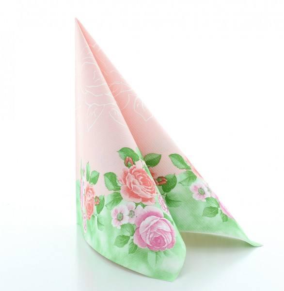 Serviette Rosemarie in rosa aus Linclass® Airlaid 40 x 40 cm, 50 Stück