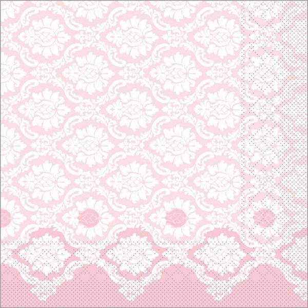 Serviette Mandy in altrosa aus Tissue 40 x 40 cm, 100 Stück