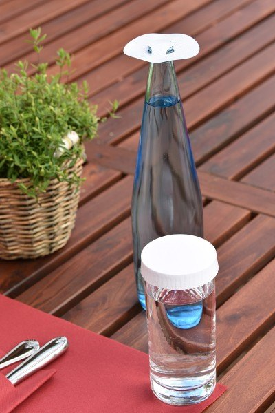 Glasabdeckungen aus hochwertigem Karton in Weiss, Ø 98 mm, 200 Stück