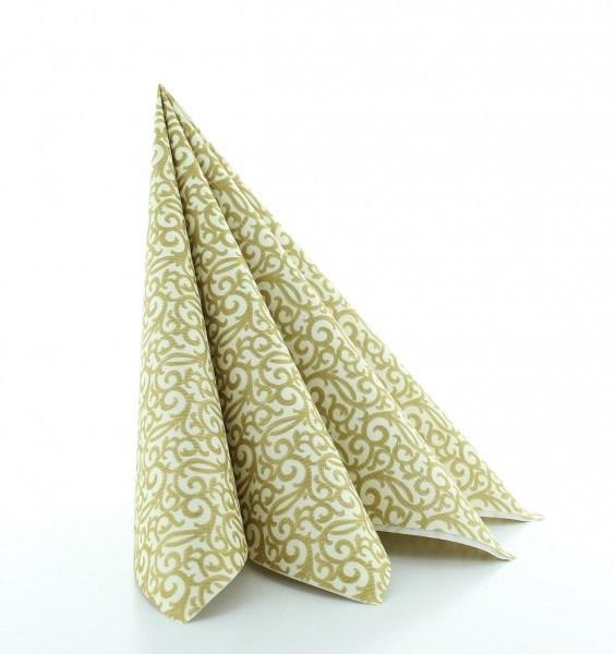 Serviette Rico in champagner-gold aus Linclass® Airlaid 40 x 40 cm, 50 Stück
