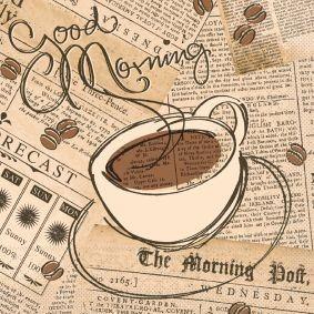Serviette Good Morning aus Tissue 33 x 33 cm, 20 Stück