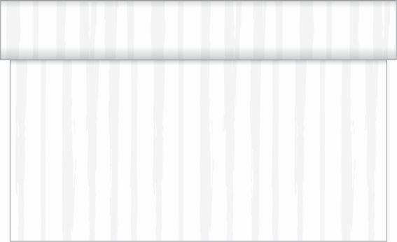 Tischläufer Hochzeits-Streifen in Grau aus Linclass® Airlaid 40 cm x 4,80 m, 1 Stück