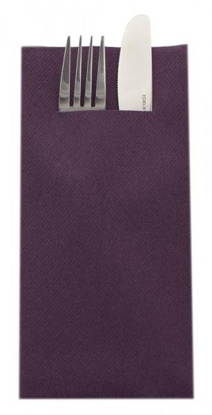 Besteckserviette Pflaume aus Linclass® Airlaid 40 x 40 cm, 100 Stück