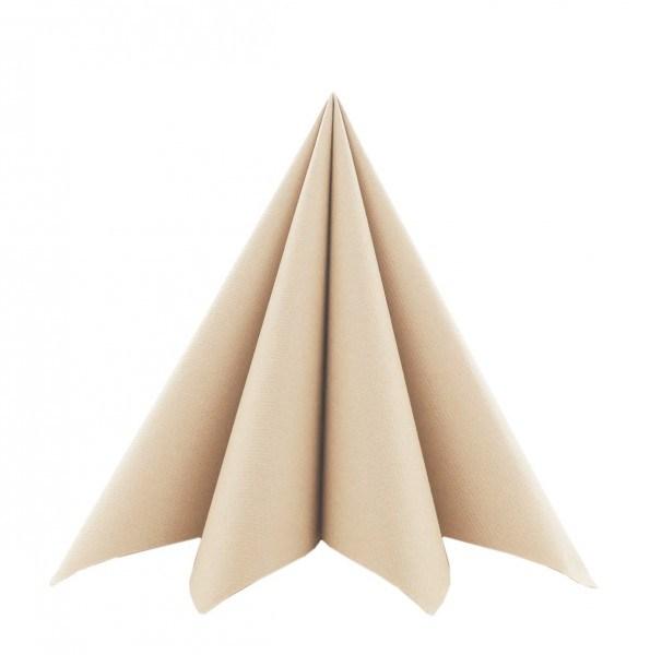 Serviette in Braun (recycled Tissue) aus Softpoint 40 x 40 cm, 2-lagig, 60 Stück
