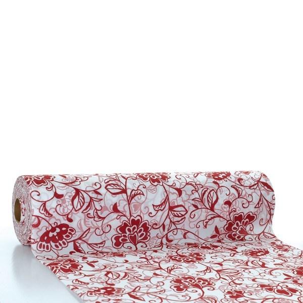 Tischläufer Liv in bordeaux aus Linclass® Airlaid 40 cm x 24 m, 1 Stück