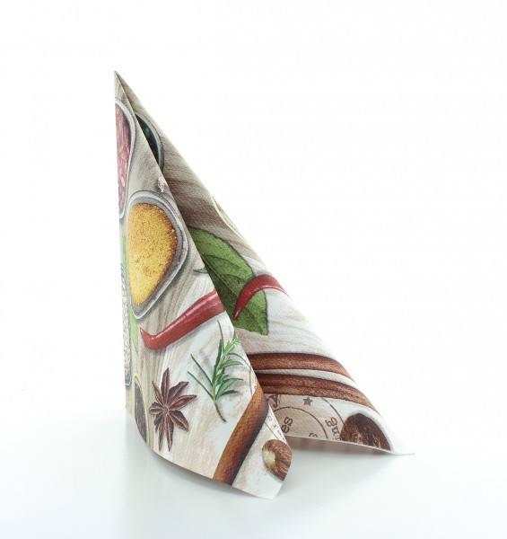 Serviette Spicy aus Linclass® Airlaid 40 x 40 cm, 12 Stück