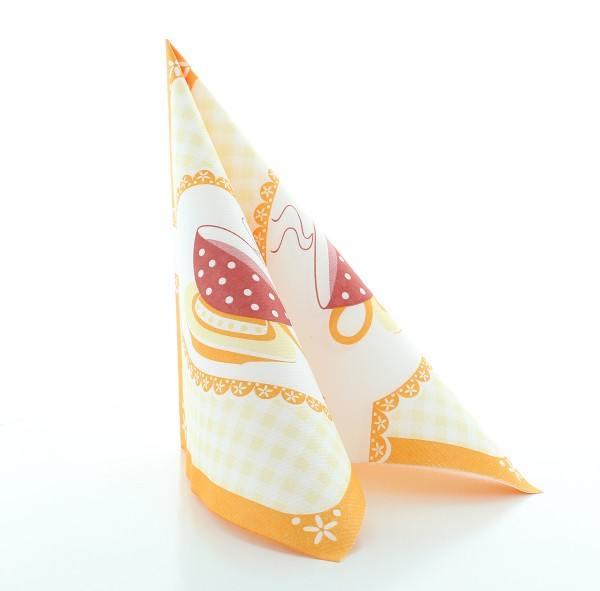 Serviette Kathrin in Orange aus Linclass® Airlaid 40 x 40 cm, 50 Stück