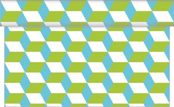Tischläufer Chicago in Blau-Grün aus Linclass® Airlaid 40 cm x 4,80 m, 1 Stück