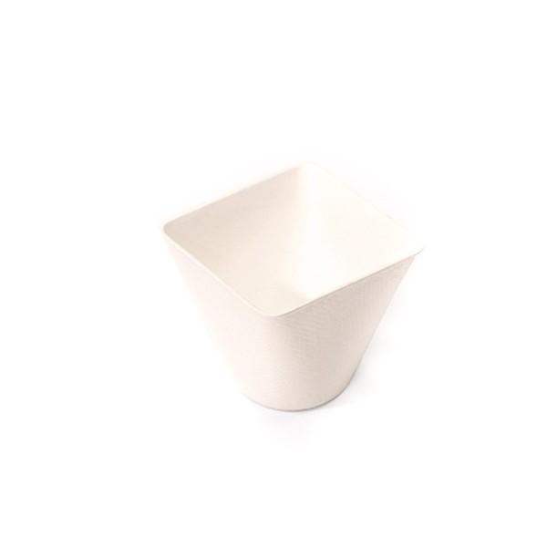 Dipschale aus Zuckerrohr in Weiss, konisch, 50 x 50 x h45 mm, 40 Stück