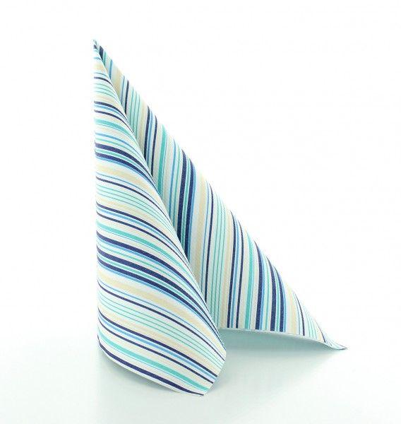 Serviette Stefano in Blau aus Linclass® Airlaid 40 x 40 cm, 12 Stück