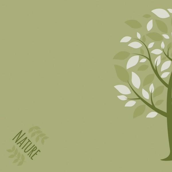 Serviette Green Nature Baum in Oliv aus Linclass® Airlaid 40 x 40 cm, 50 Stück