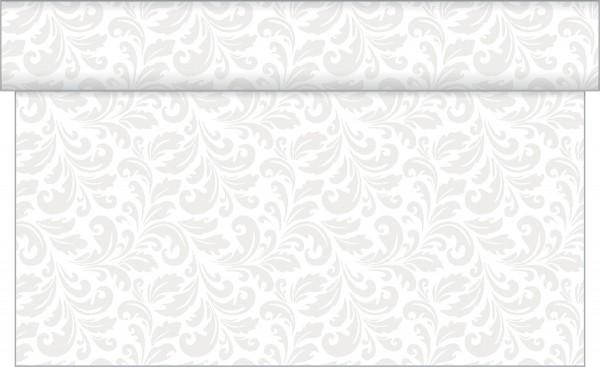 Tischläufer Carlo in Weiß aus Linclass® Airlaid 40cm x 24 m, 1 Stück