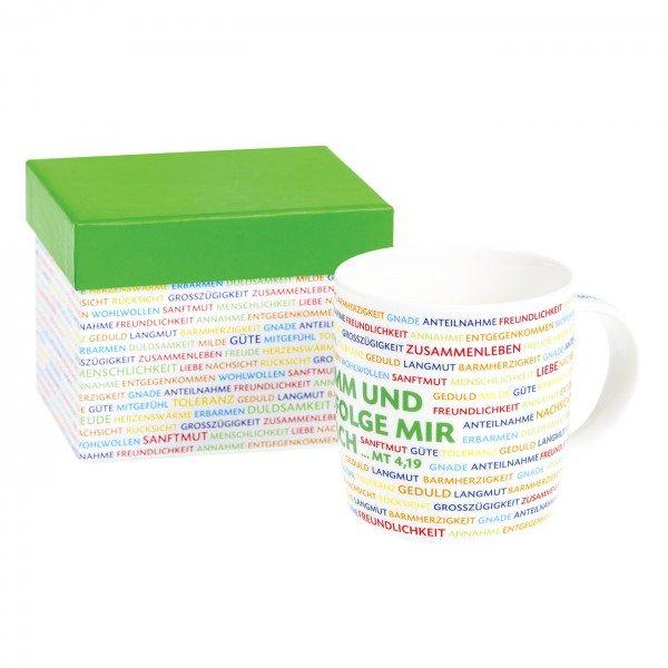 Tasse NACHFOLGE mit Geschenkkarton, 1 Stück