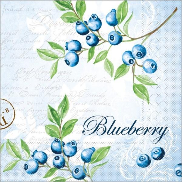 Serviette Bärbel in blau aus Tissue 33 x 33 cm, 100 Stück