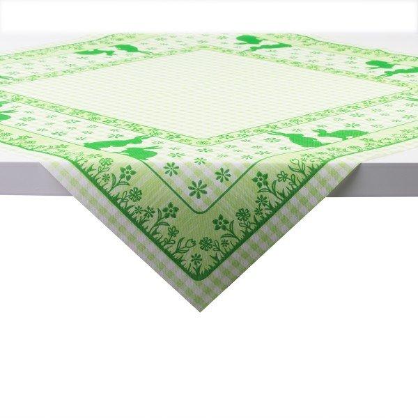 Tischdecke Joni-Rabbits in grün aus Linclass® Airlaid 80 x 80 cm, 20 Stück
