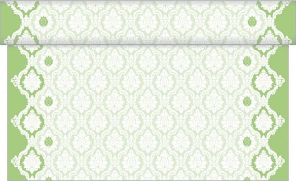 Tischläufer Mandy in apfelgrün aus Linclass® Airlaid 40 cm x 24 m, 1 Stück