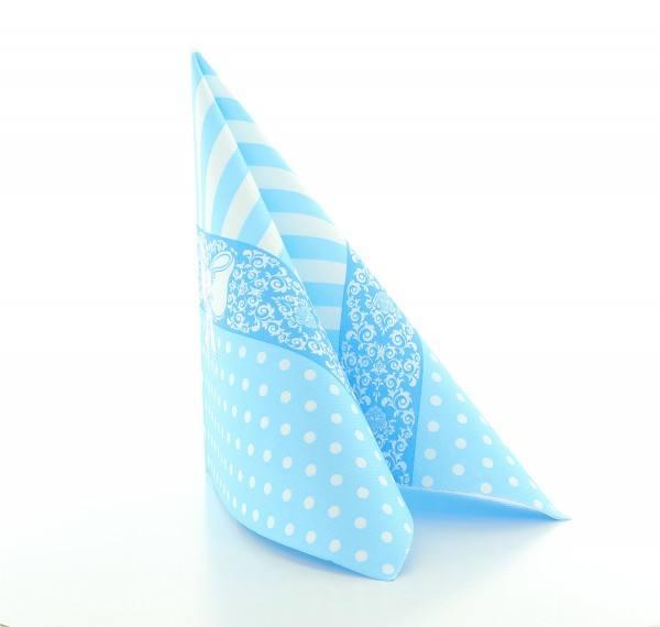 Serviette Bine in Aquablau aus Linclass® Airlaid 40 x 40 cm, 12 Stück