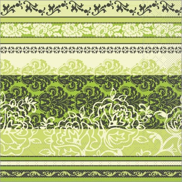 Serviette Thea in lime aus Tissue 40 x 40 cm, 100 Stück
