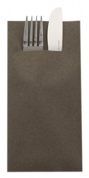 Besteckserviette Braun aus Linclass® Airlaid 40 x 40 cm, 75 Stück