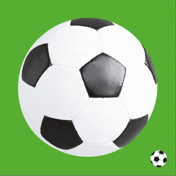 Serviette Fussball aus Linclass® Airlaid 40 x 40 cm, 12 Stück