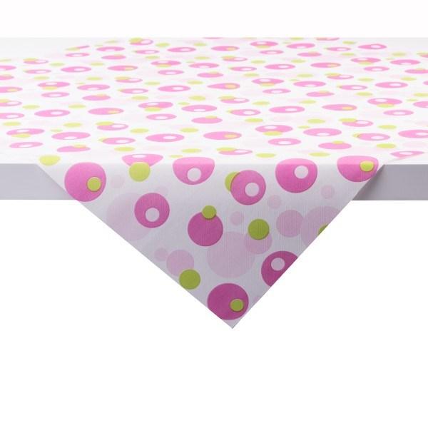 Tischdecke Bubbles in Pink-Grün aus Linclass® Airlaid 80 x 80 cm, 1 Stück