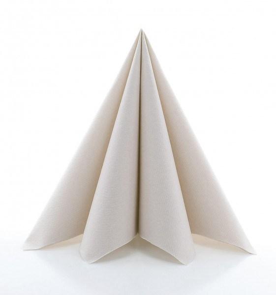 Serviette Pebble Stone aus Linclass® Airlaid 40 x 40 cm, 50 Stück