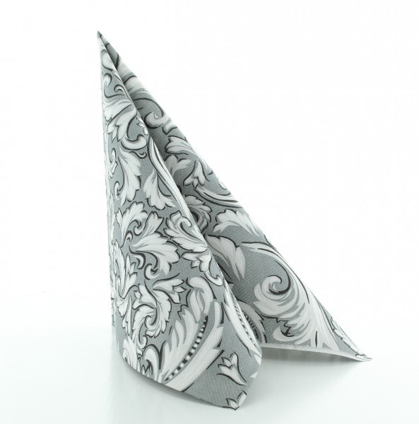 Serviette Cascade in grau aus Linclass® Airlaid 40 x 40 cm, 50 Stück