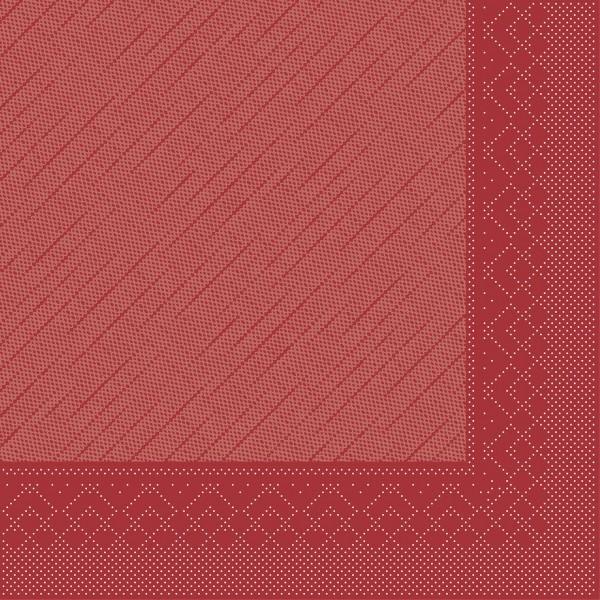 Serviette Bordeaux aus Tissue Deluxe®, 4-lagig, 40 x 40 cm, 50 Stück