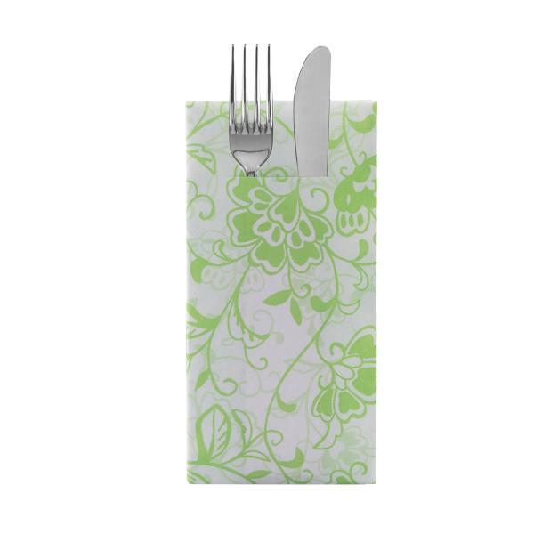 Besteckserviette Liv in Apfelgrün aus Linclass® Airlaid 40 x 40 cm, 12 Stück