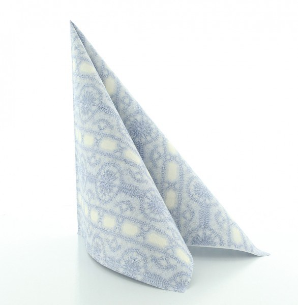Serviette Stefanie in champagner-blau aus Linclass® Airlaid 40 x 40 cm, 50 Stück