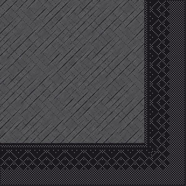 Serviette Schwarz aus Tissue Deluxe®, 4-lagig, 40 x 40 cm, 50 Stück