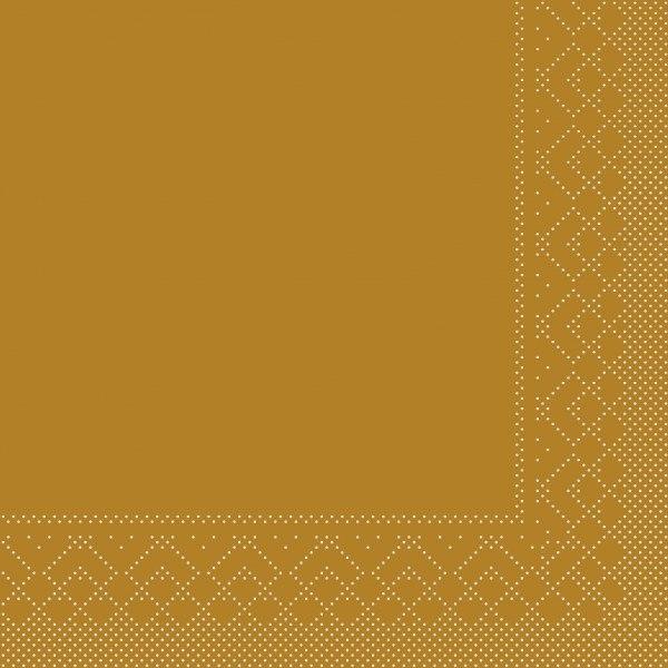 Serviette Kupfer aus Tissue 33 x 33 cm, 20 Stück