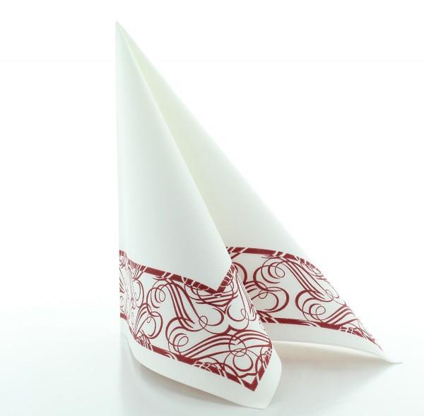 Serviette Karima in bordeaux aus Linclass® Airlaid 40 x 40 cm, 50 Stück
