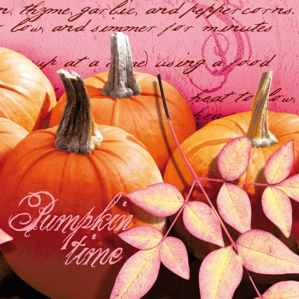 Serviette Pumpkin Time aus Linclass® Airlaid 40 x 40 cm, 12 Stück