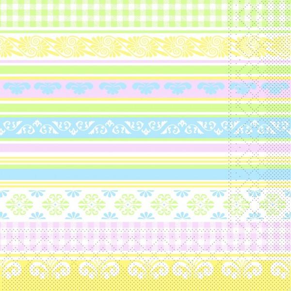 Serviette Jule in Pastell aus Tissue 33 x 33 cm, 20 Stück