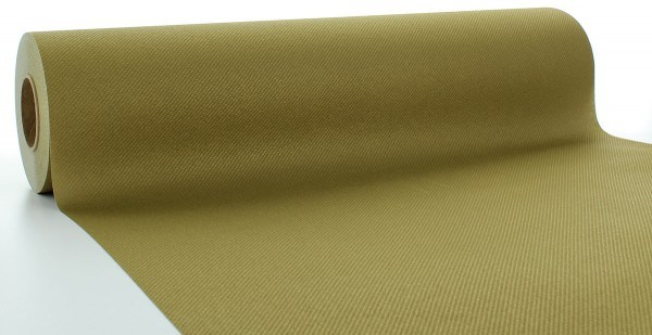 Tischläufer Gold aus Linclass® Airlaid 40 cm x 24 m, 1 Stück