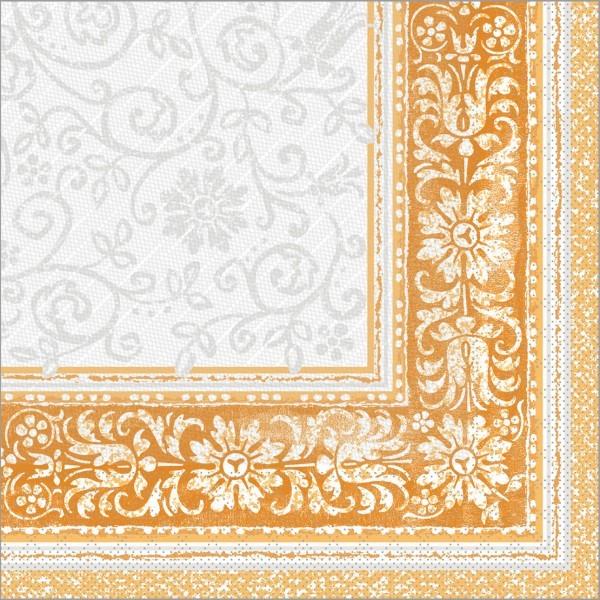 Serviette Lara in terrakotta aus Tissue Deluxe®, 4-lagig, 40 x 40 cm, 50 Stück