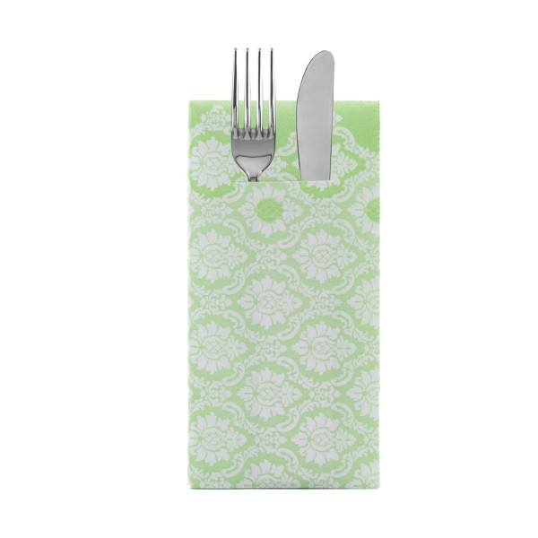 Besteckserviette Mandy in apfelgrün aus Linclass® Airlaid 40 x 40 cm, 100 Stück